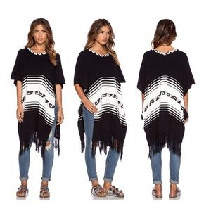 White Label Frida Traveler Fringe Sweater/ Poncho